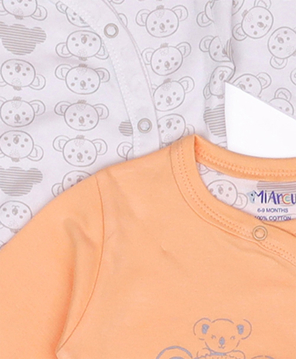 Comfy Knitted Sleep Suit - Koala (Pack of 2)