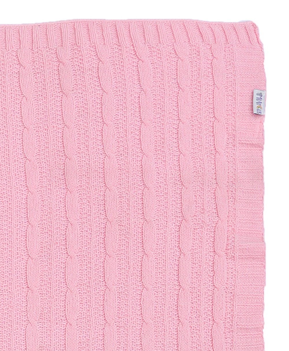 Chenille Cozy Blanket - Pink