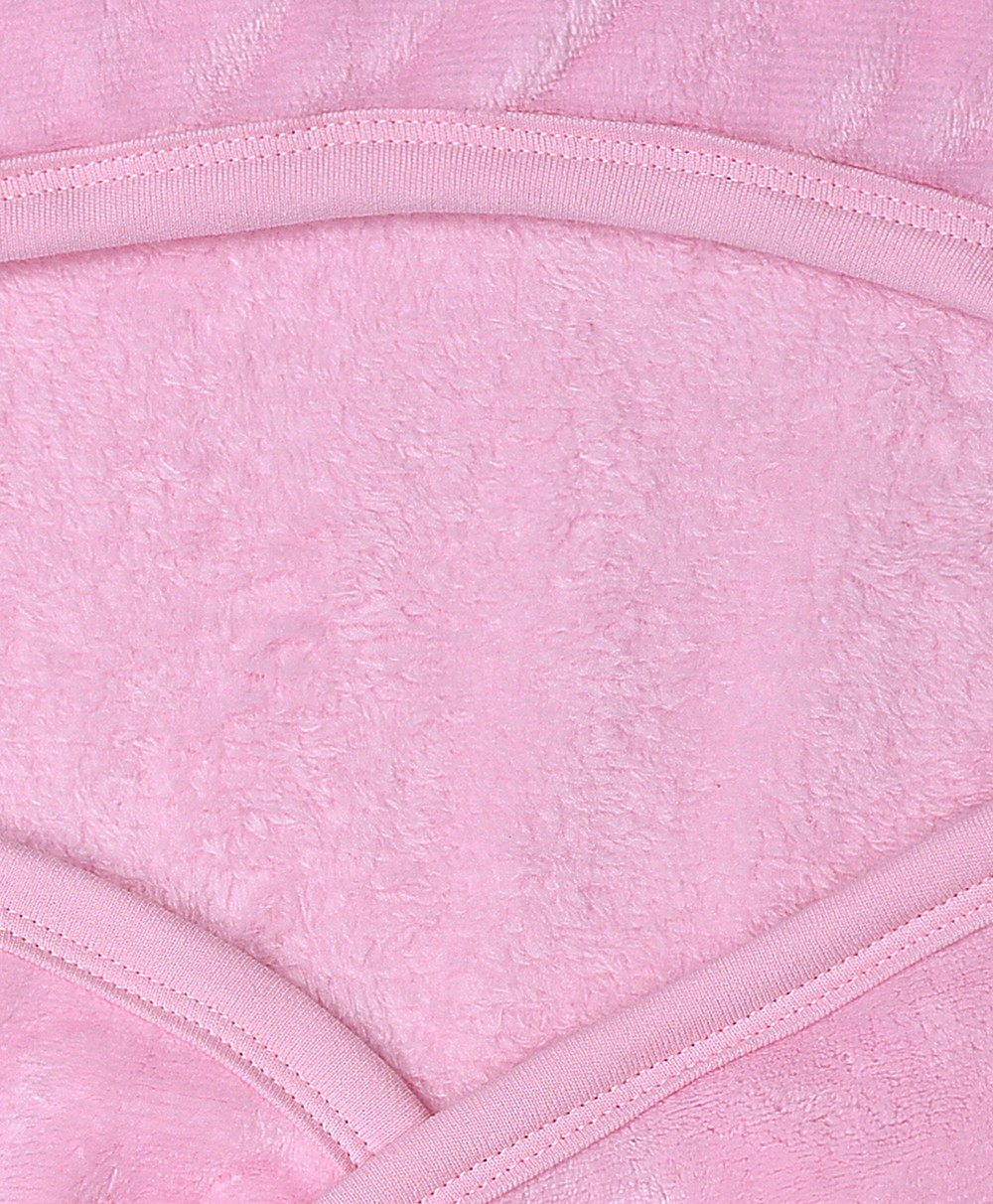 Flurry Knitted Hooded Blanket - Pink