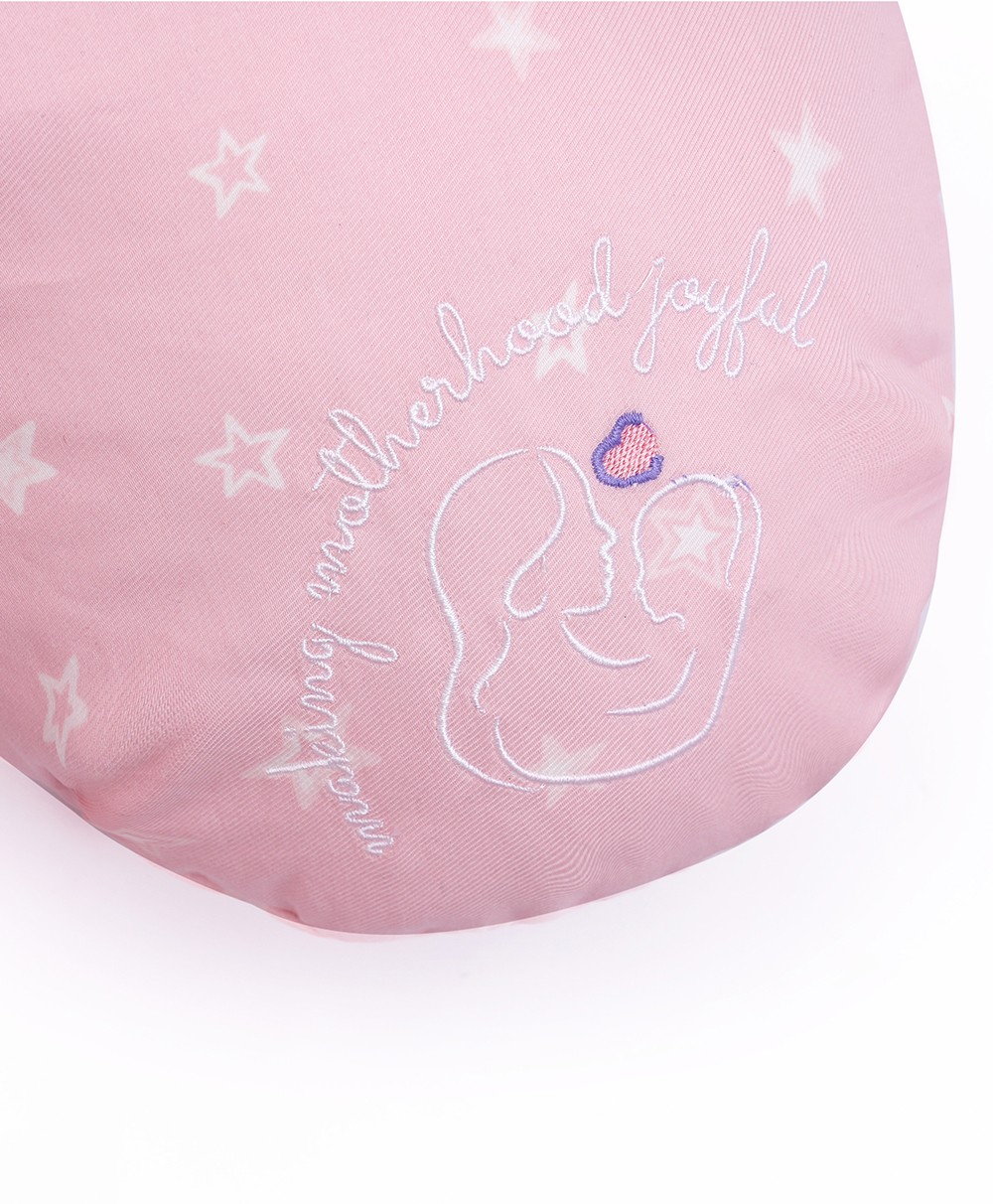 Gingham C - Pregnancy Pillow - Pink