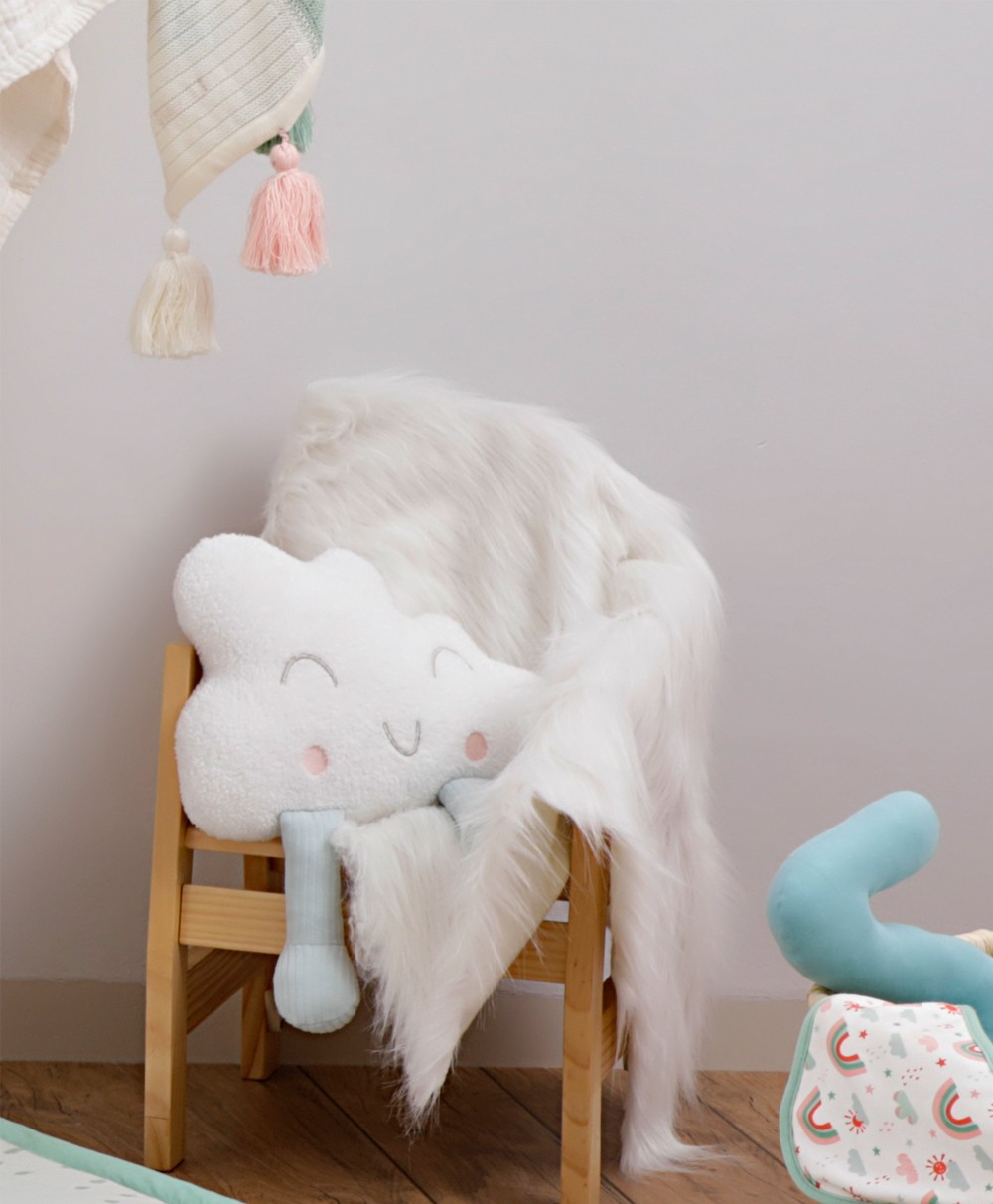 Mino Cloud Knitted Soft Toy-Blue