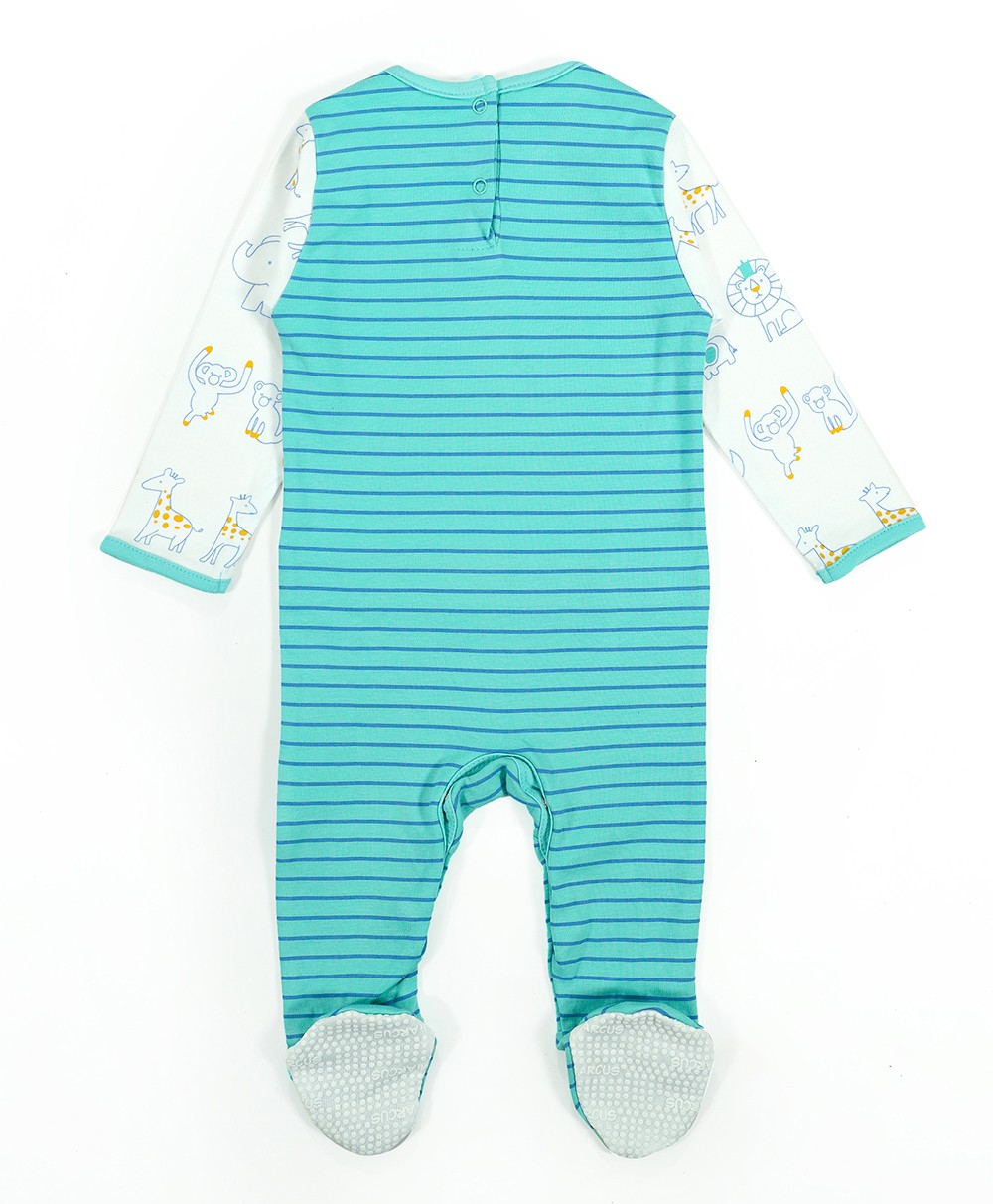 Comfy Knitted Sleep Suit - Safari (Pack of 3)